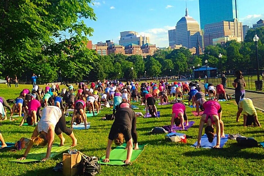 Boston Yoga in the Park